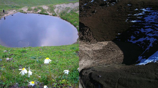 Valilik, 'eski haline getirildi' demişti: Dipsiz Göl toprakla doldurulmuş!