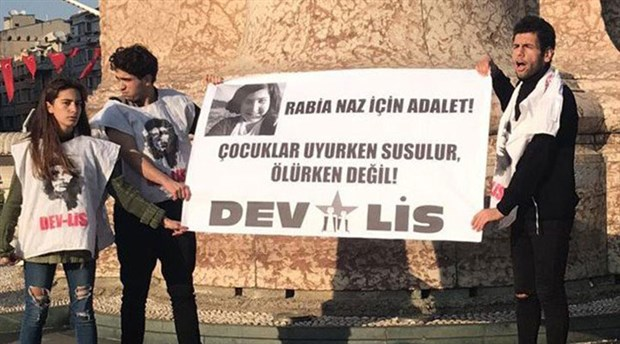 Rabia Naz için eylem yapan Dev-Lis üyeleri gözaltına alındı
