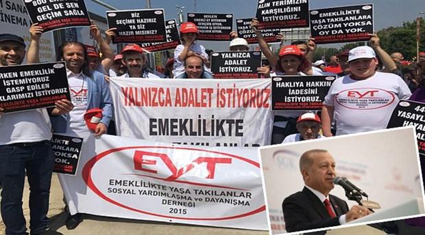 EYT'lilerden Erdoğan'a tepki: Biz hakkımız olanı istiyoruz