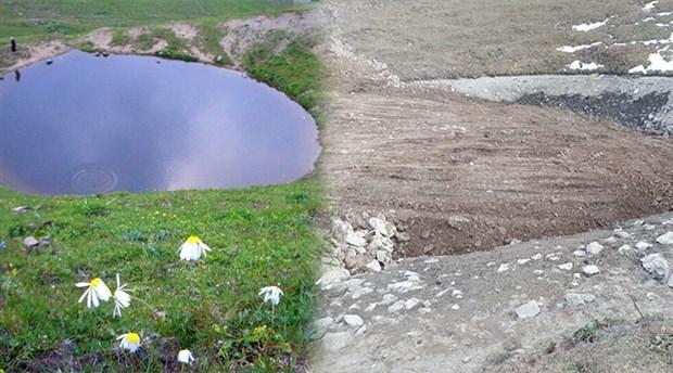 Yok edilen 12 bin yıllık Dipsiz Göl'ü tankerle su taşıyarak eski haline çevirmeye çalışacaklar!