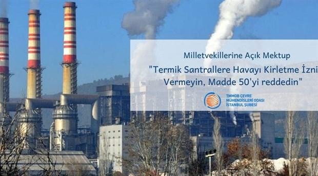 ÇMO: Termik Santrallere havayı kirletme izni vermeyin!