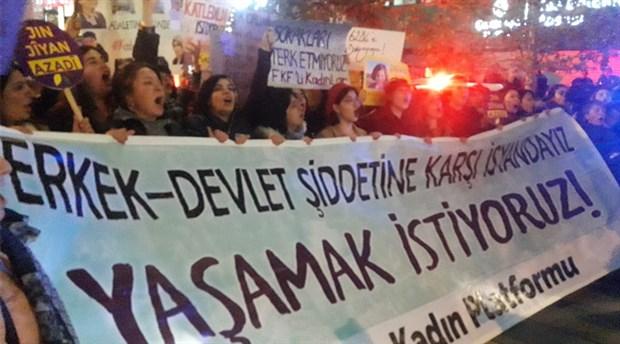 Ankara'da kadınlar bir arada: Erkek-Devlet Şiddetine Karşı İsyandayız