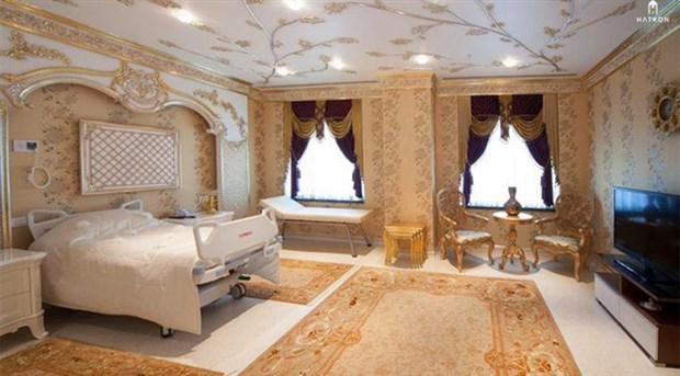Menzil şeyhinin 'şatafatlı' hastane odası