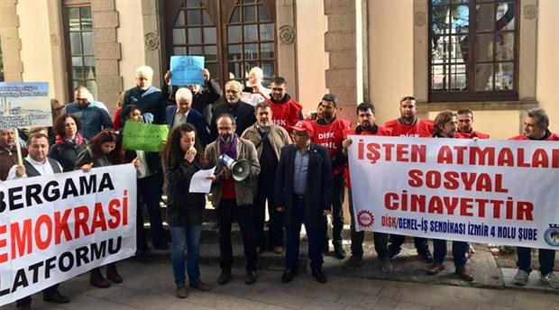 AKP'li Bergama Belediyesi'ne protesto: Halkın değil, kayyumun belediye başkanı olmuştur
