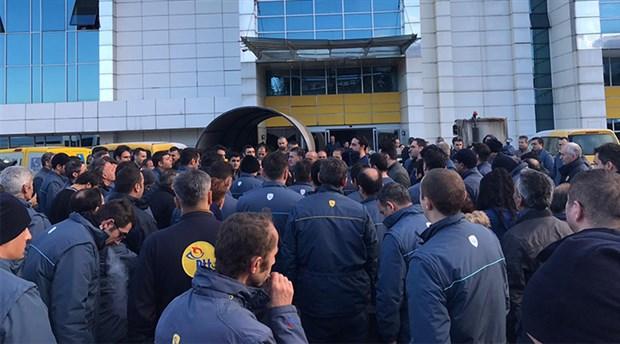 PTT Kargo işçileri isyan etti