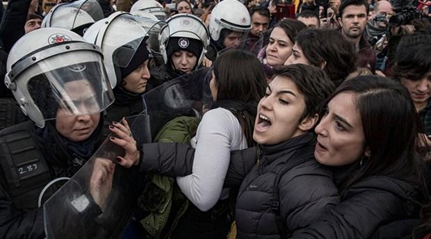 'Şiddeti protesto eden kadınlara bu suçlamalar kabul edilemez'