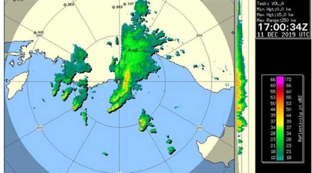 Antalya'nın son meteoroloji radarı görüntüsü paylaşıldı
