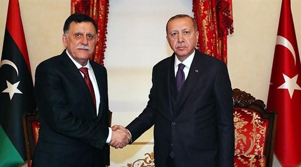 Erdoğan, Fayez Al Sarraj ile görüştü