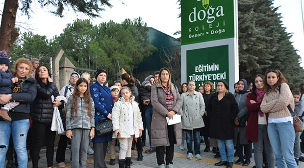 Doğa Koleji eylemlerine Bursalı veliler de katıldı