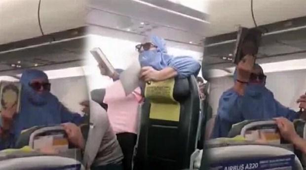 Uçakta olay çıkaran kişi tutuklandı