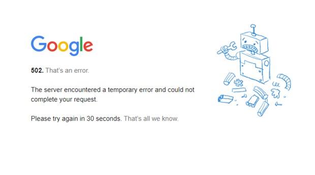 Arama motoru Google ve hizmetlerinde aksaklık yaşandı