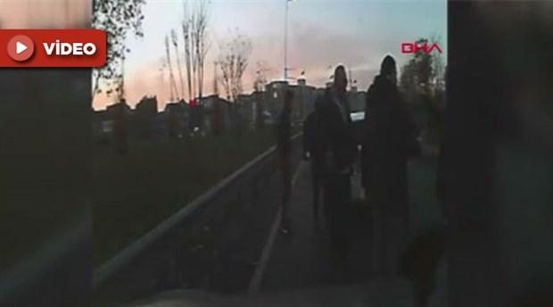 Korna çaldığı için kadın sürücüye saldıran erkek tutuklandı