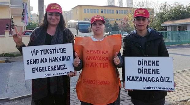 VIP Giyim'den atılan işçiler yeni yılı direnişle karşılıyor: Kadınız, güçlüyüz, kazanacağız!
