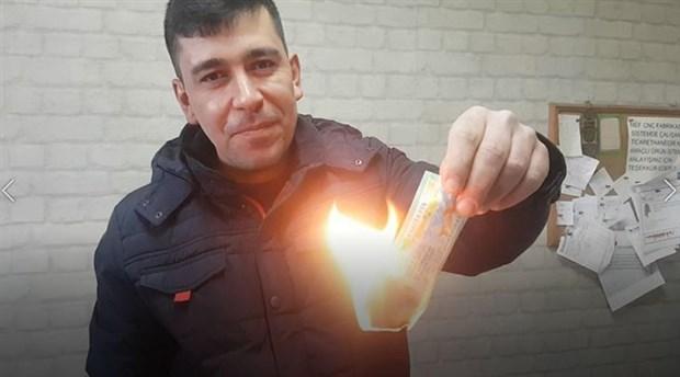 Asgari ücretli işçi, 20 bin liralık biletini patronunun telkiniyle 'haram' diye yaktı