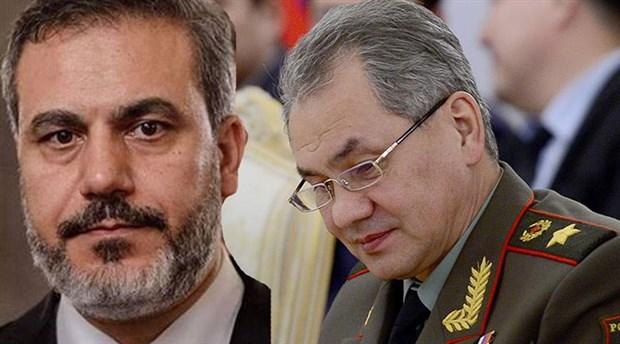 Rusya Savunma Bakanı Şoygu, Hakan Fidan'la görüştü