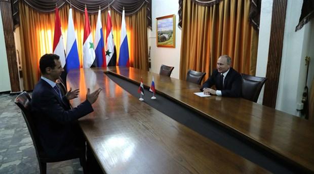Yarın Türkiye'ye gelecekti: Putin Suriye'ye gitti, Esad'la görüştü!