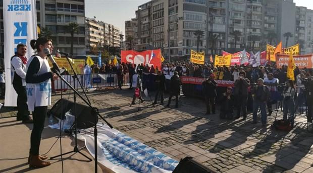 İzmir'de binlerce emekçi seslendi: Halk için bütçe, demokratik bir ülke istiyoruz!