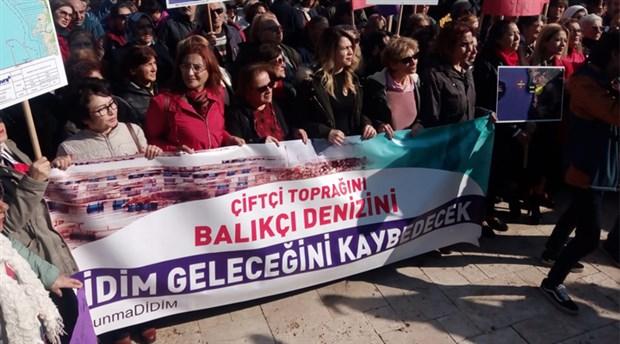 Didim'de 'Organize Sanayi Bölgesi' protestosu