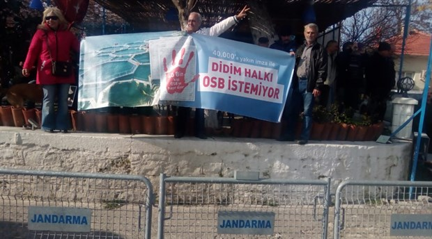 Didim Akköy'de ÇED toplantısına büyük protesto