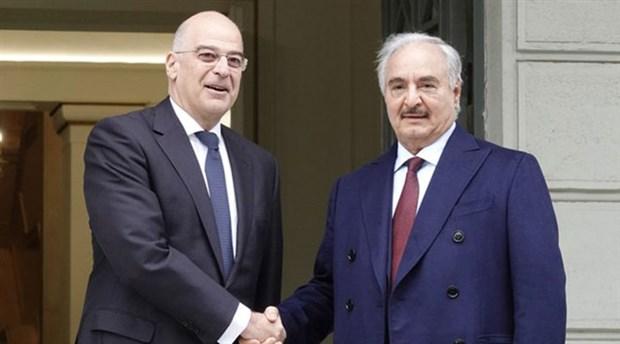 Hafter, Yunanistan Dışişleri Bakanı Dendias ile görüştü