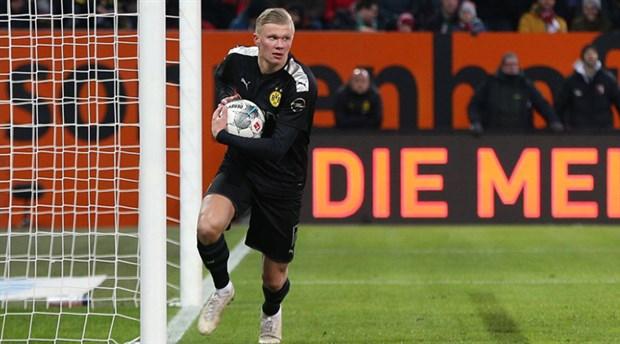 Haaland ilk maçında 'hat-trick' yaptı