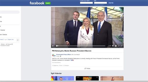 İsrail Başbakanlık Basın Ofisi Macron'u Putin ile karıştırdı