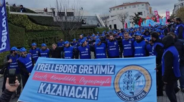 Trelleborg'da işçiler 44 gündür grevde