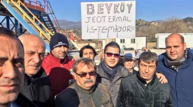 Umurlu'da halk jeotermale karşı direnişe geçti: Çalışma durduruldu