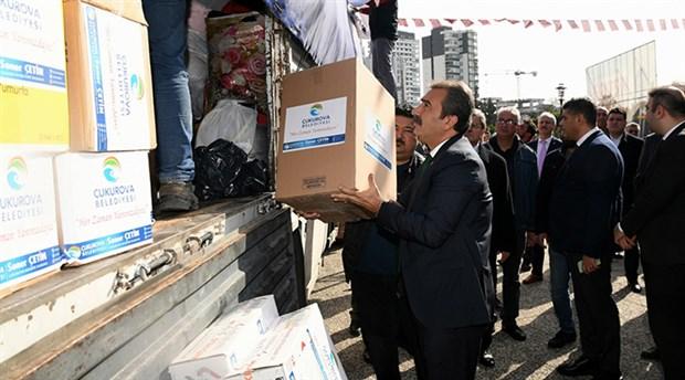Adana Çukurova Belediyesi'nden deprem bölgesine yardım