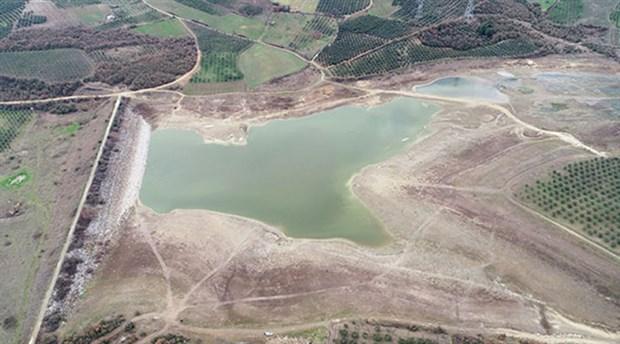 Bursa'da 40 yıldır bölgenin sulama ihtiyacını karşılayan Kocayusuf Göleti kurudu