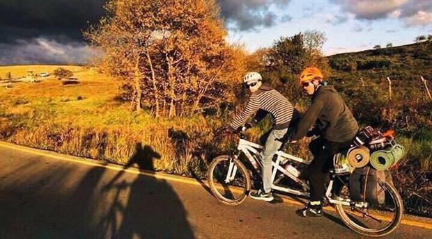 Tandem bisikletçi İşcier projesini hayata geçirmek için destek bekliyor