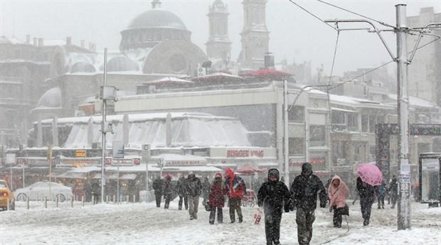 İstanbul'da kar kapıya dayandı