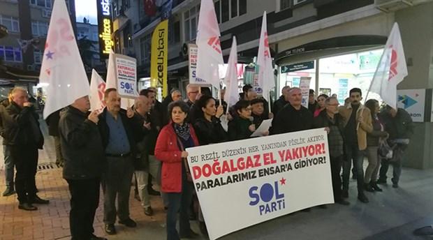 SOL Parti, Samsun'da Ensar'a aktarılan para için sokağa çıktı