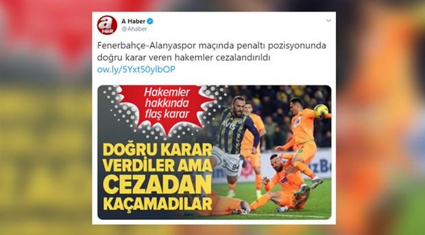 Yandaş A Haber, Fenerbahçe'ye savaş açtı!