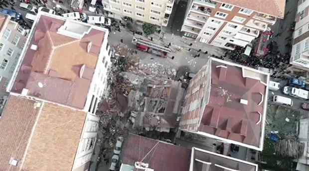 Bahçelievler'de 7 katlı bina çöktü