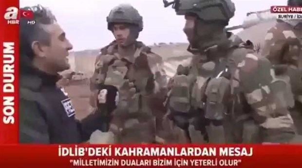İdlib'deki komutanı röportaj için taciz eden A Haber muhabiri gündemde