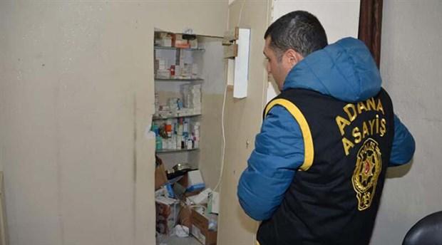 Adana'da gizli bölmeli kaçak hastaneye baskın