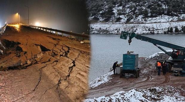 Bahadır Barajı'nda çatlak oluştu, köyler boşaltıldı
