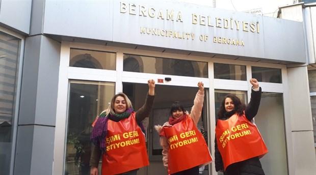Bergama'da direnen 3 kadına Erdoğan yasağı