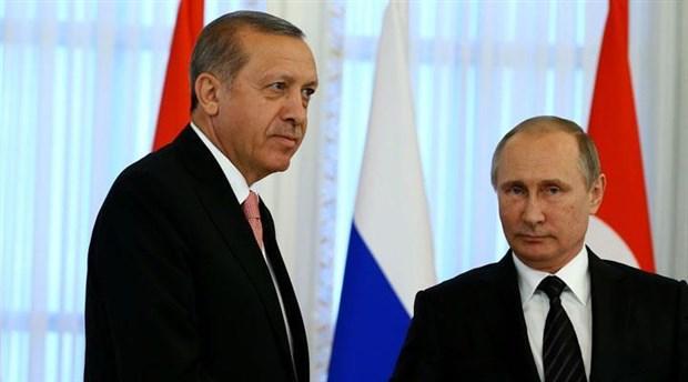 Erdoğan, Rusya Devlet Başkanı Vladimir Putin ile görüştü