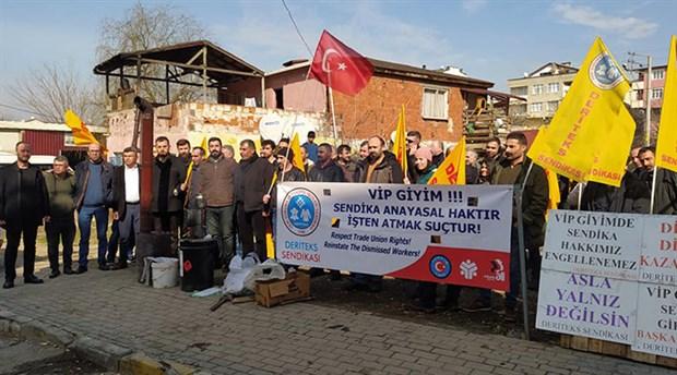 VIP Giyim işçilerinden 100'üncü gün çağrısı