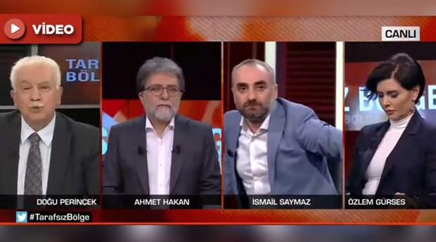 CNN Türk'te gergin anlar: İsmail Saymaz ve Doğu Perinçek arasında tartışma