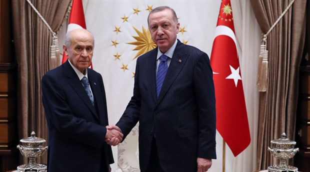 Erdoğan ve Bahçeli'den yarım saatlik görüşme