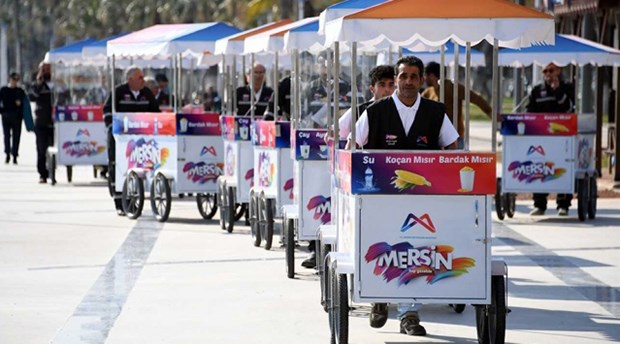 Mersin'de seyyar satıcılara tek tip zorunluluğu