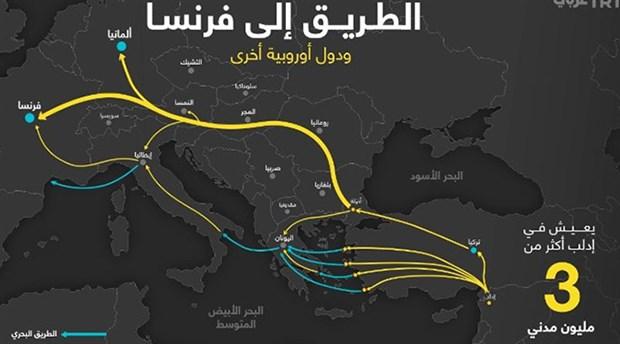 TRT Arapça'dan sığınmacılar için Avrupa'ya gidiş haritası!