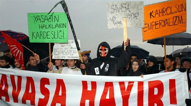 Valilik 'savaşa hayır' demeyi yasakladı