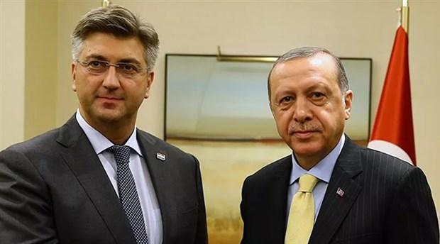 Erdoğan, AB Dönem Başkanı Hırvatistan'ın Başbakanı Plenkovic ile telefonda görüştü