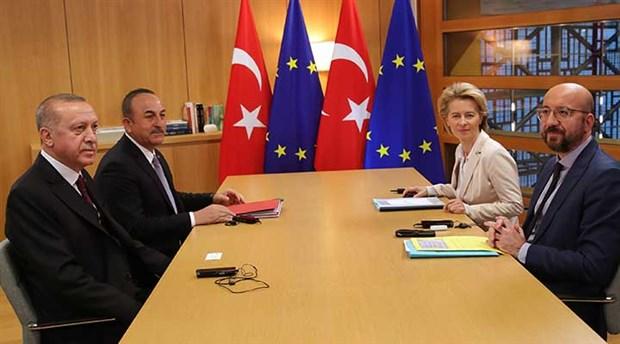 Erdoğan, AB Konseyi Başkanı Michel ve AB Komisyonu Başkanı Von der Leyen ile görüştü