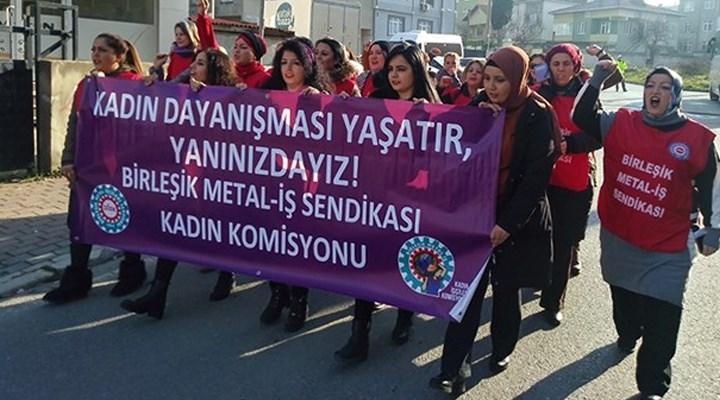 Metal işçisi kadınlar çift mesai yapıyor