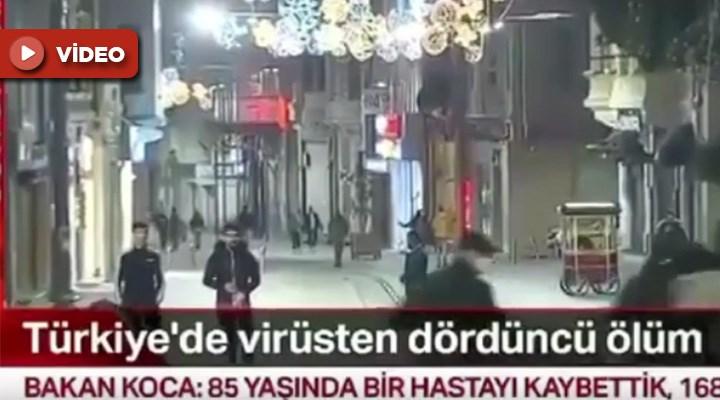 NTV'nin canlı yayınında üç kişiyi köpek kovaladı: Sosyal medyada gündem oldu